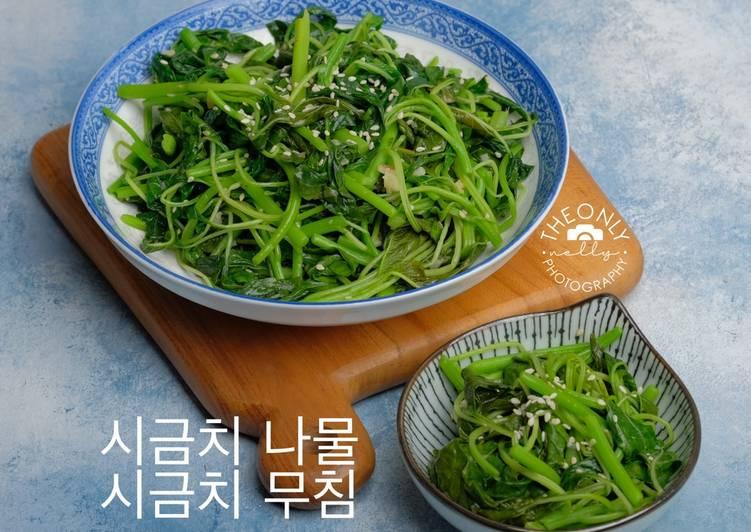Cara Gampang Menyiapkan Tumis Bayam ala Korea (시금치 나물 / 시금치 무침) yang Bisa Manjain Lidah