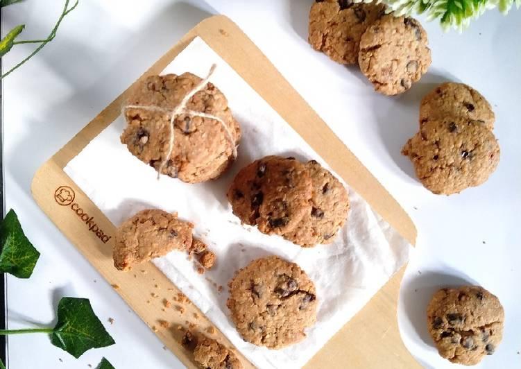 Choco Chinammon Oatmeal Cookies (gluten free,🚫telur&gula pasir)