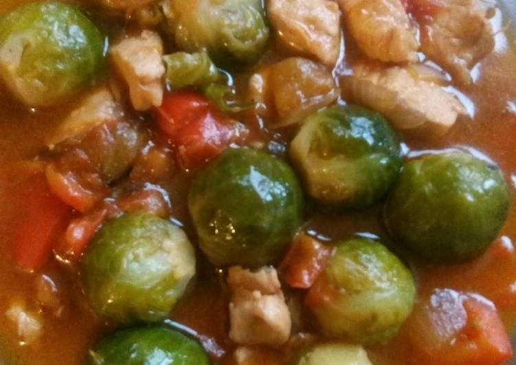 Coles De Bruselas Con Pollo Receta De La Ranchera Cookpad