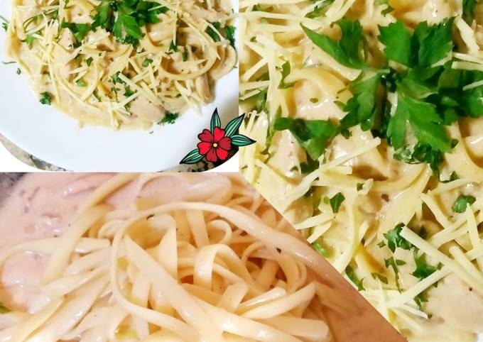 Alfrido pasta au champignon