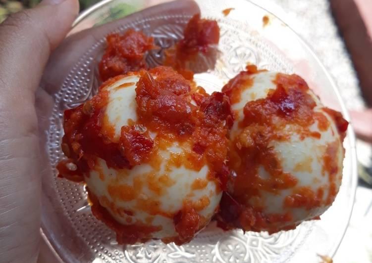 Cara Gampang Membuat Telur Balado Simple (Diet) Anti Gagal