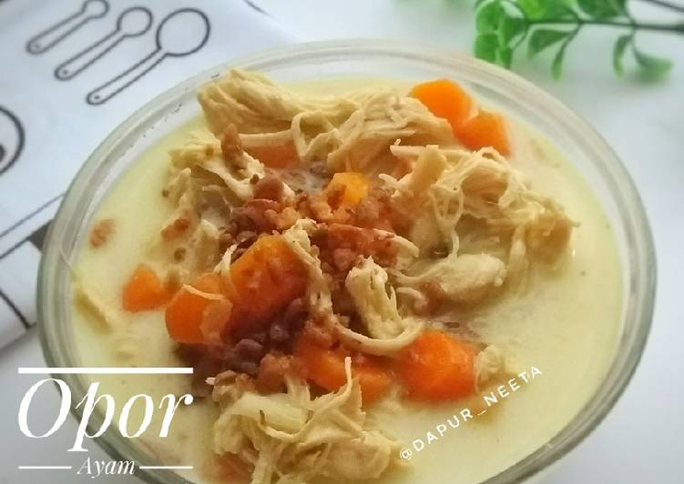 Opor Ayam Suwir Kuah Putih - cookandrecipe.com
