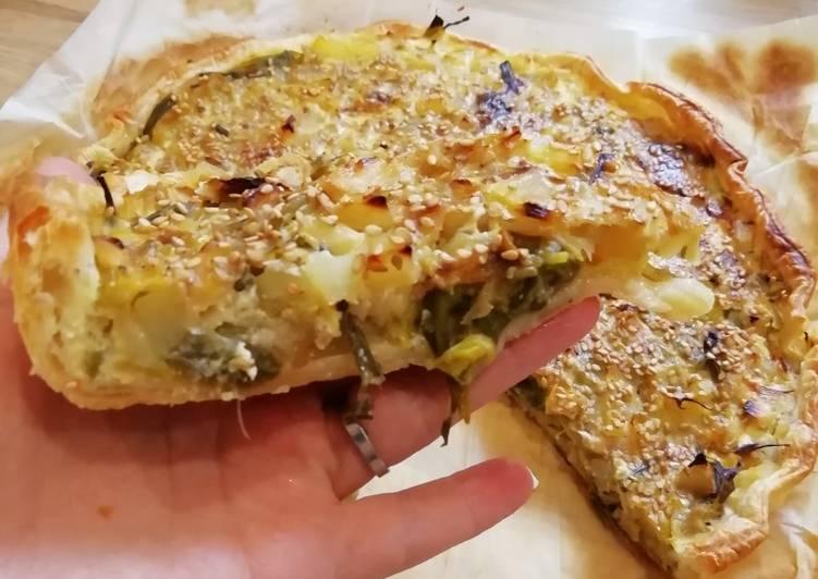 Tarte poireaux / pomme de terre / sésame torréfié