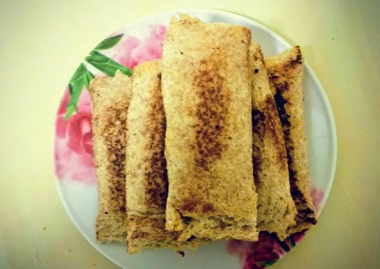 25 Minute Simple Way to Make Blends Paneer Bread Roll