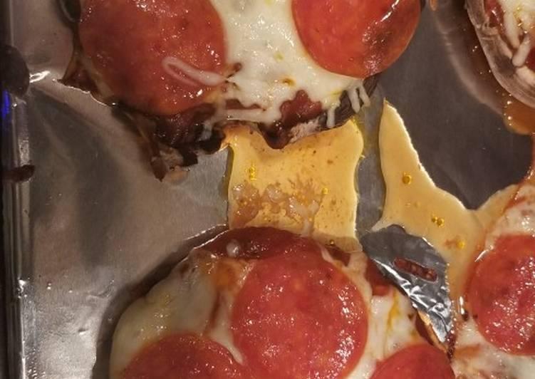 Mushroom Cap Pizzas