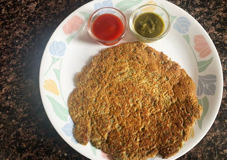 Whole Green Gram Savory Pancake  (Hari Moong Dal Cheela)