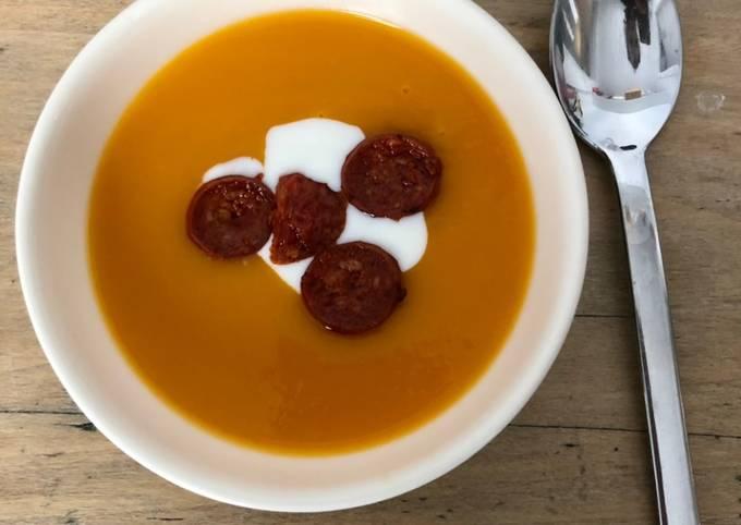 Soupe de butternut au chorizo
