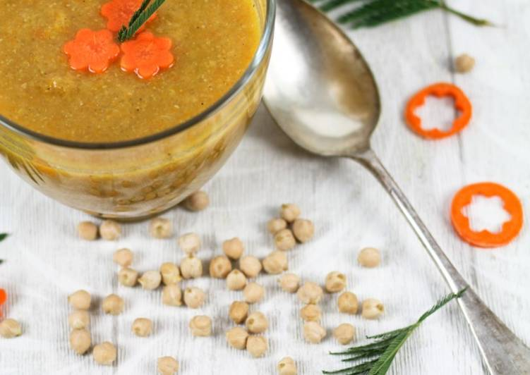 La Recette Pas à Pas Soupe de carotte et pois chiche à l'orientale