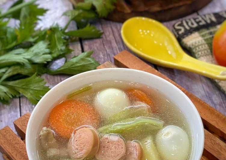 Resep Sup Ayam Telur Puyuh ala Tiger Kitchen Yang Gampang Bikin Ngiler
