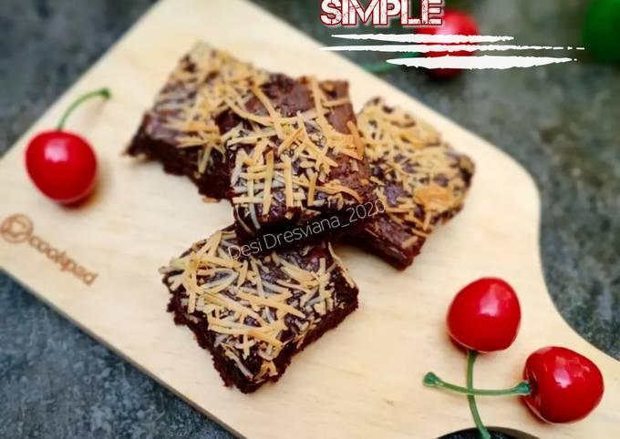 Brownies Keju Simple - Tanpa Mixer Cukup 2 Telur