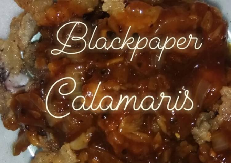 Blackpaper Calamaris / Cumi blackpaper