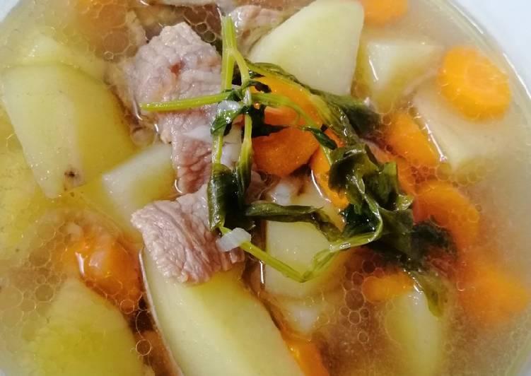 Sup daging sederhana