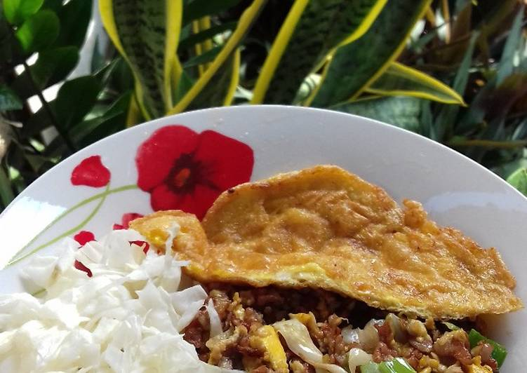 Nasi Merah Goreng Mawut