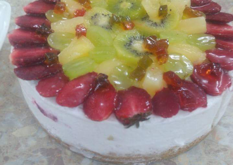 Recipe: Yummy Fresh fruit cheese cake