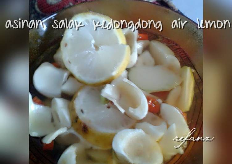 Asinan salak+kedongdong air lemon