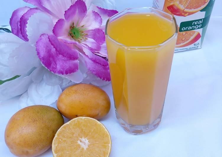 Easiest Way to Make Award-winning Mango and Orange Juice