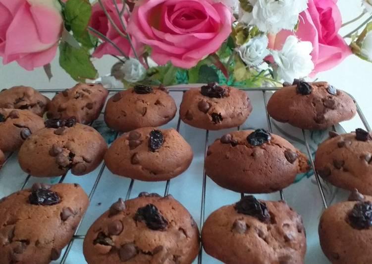 Double choco cookies renyah