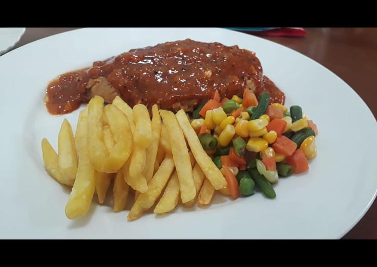 Chicken Steak Blackpeper Sauce - #CreativeYouth