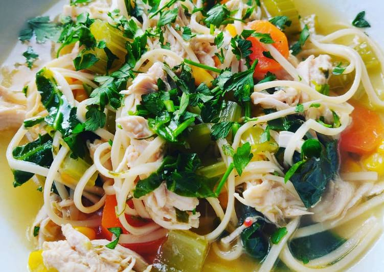Step-by-Step Guide to Prepare Most Popular Chicken Noodle Soup