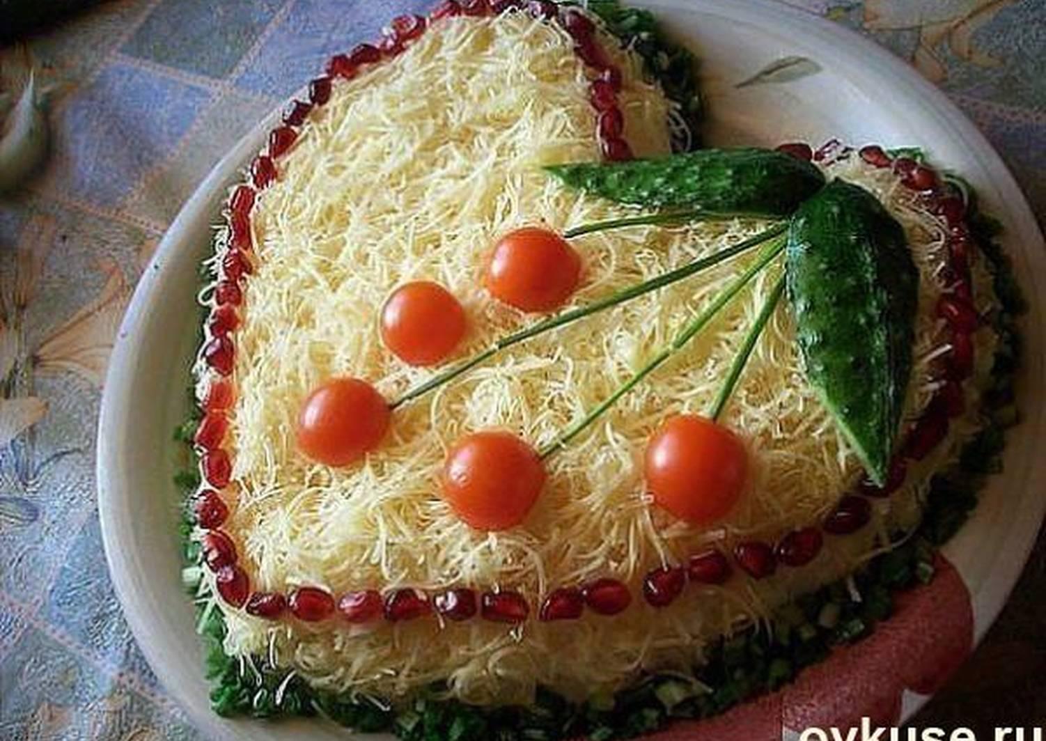 салат в виде сердца рецепт с фото отмечен необычными скалистыми