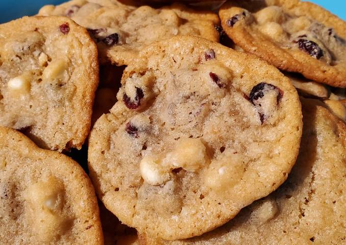 White Chocolate and Cranberry Cashew Cookies