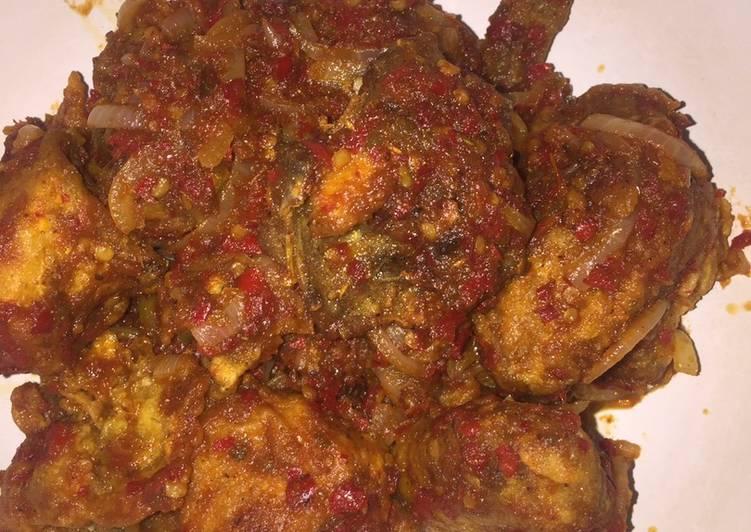 Ayam goreng tepung sambal manis