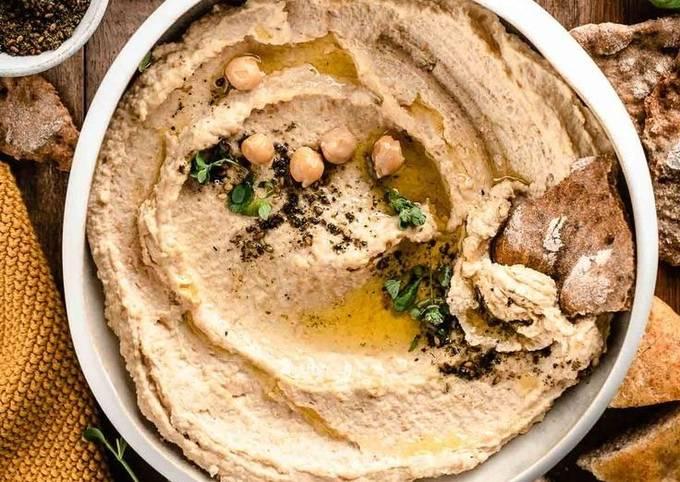 Hummus Ricetta Semplice Senza Tahina.Ricetta Hummus Di Ceci Senza Tahina Di Cucinadichia Cookpad