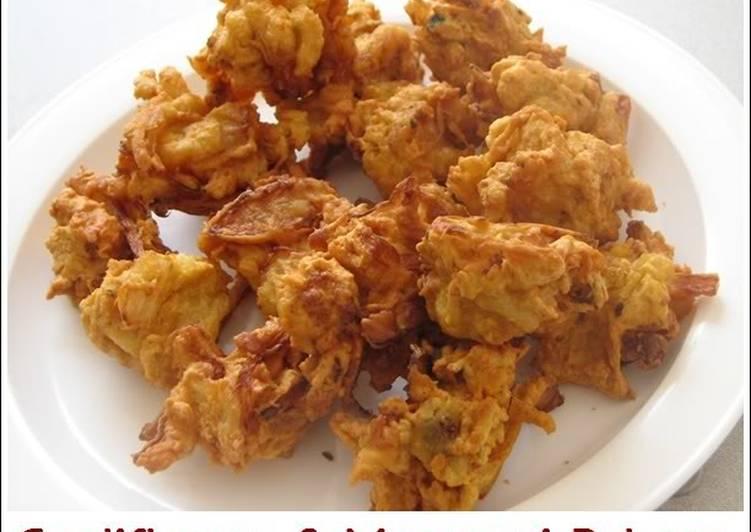 10 Minute Simple Way to Prepare Fall Cauliflower & Macaroni Pakora