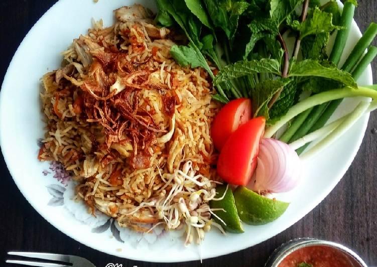 Nasi Briyani Ayam Mudah (Hydrabad Style)