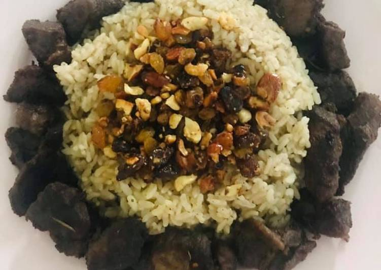 Recipe: Perfect Kaltha Rice with Beef ????