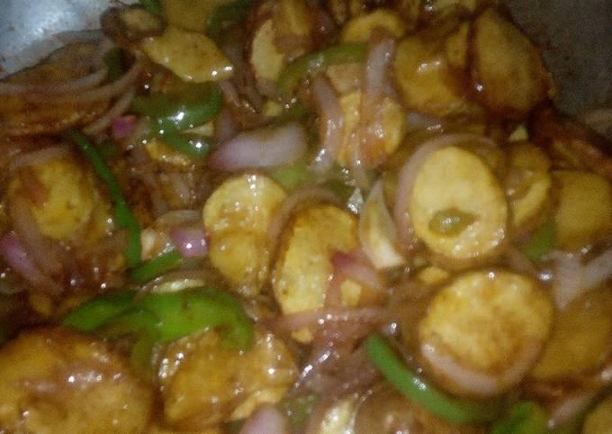 Kenyan Lyonnaise Potatoes