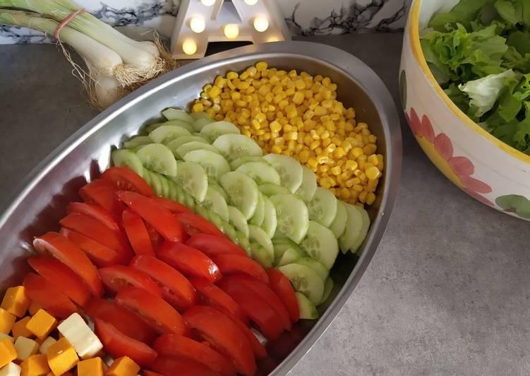 Salade composée spécial barbecue