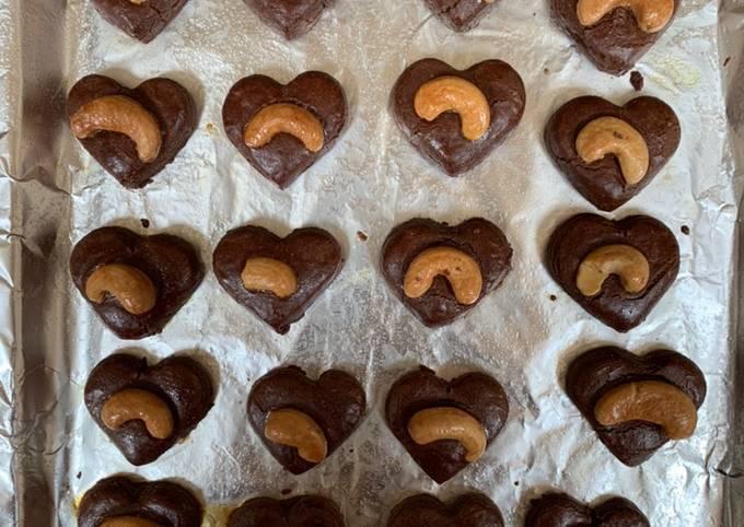 Choco Cashew Cookies / Coklat Mede