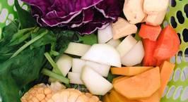 Hình ảnh món Dashi rau củ cho bé ăn dặm