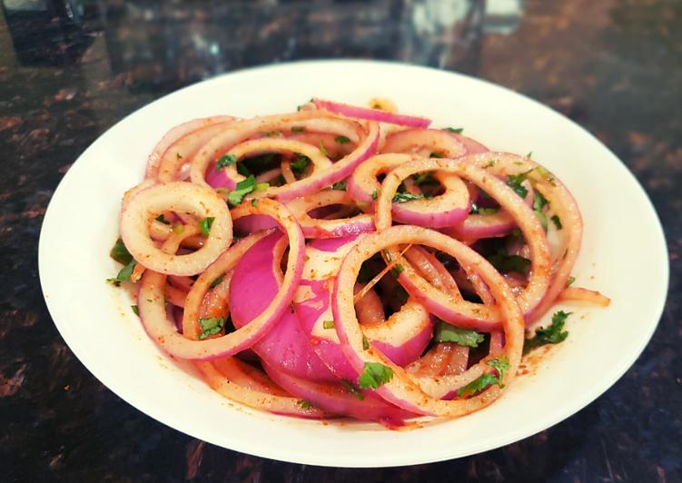 Laccha Onion Salad | Onion Ring Salad | Dhaba style Pyaz ka salad