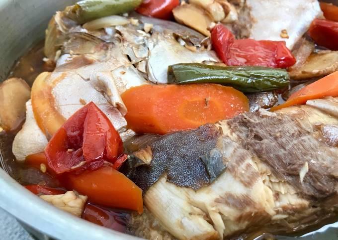Saengsun Jorim (Korean Style Fish Stewed in Soy Sauce)