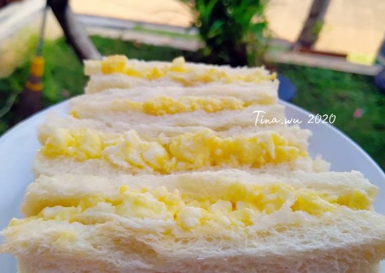 Resep Japanese egg Sandwich/Tamago sando Paling Mudah