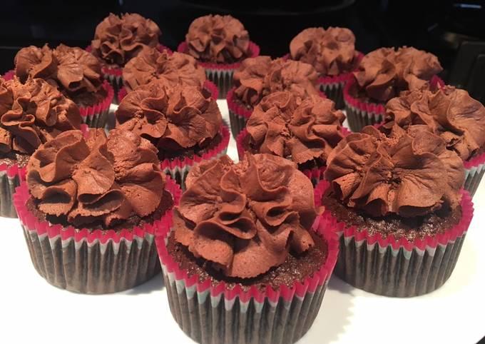 Cupcake 100% chocolat