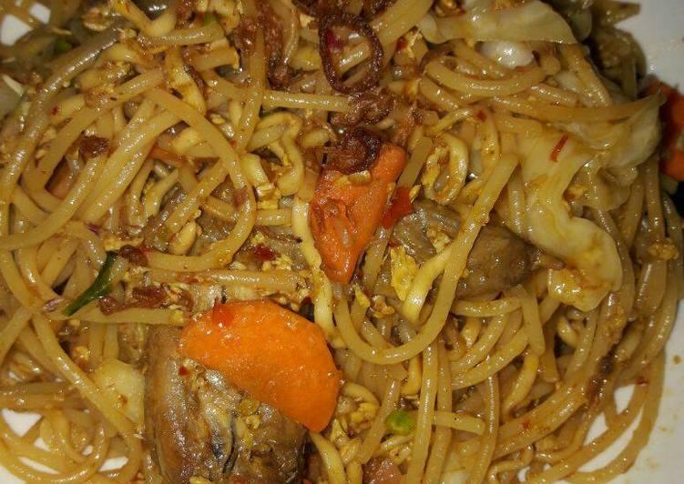 Cara bikin Spagetti Rendang  yang Lezat