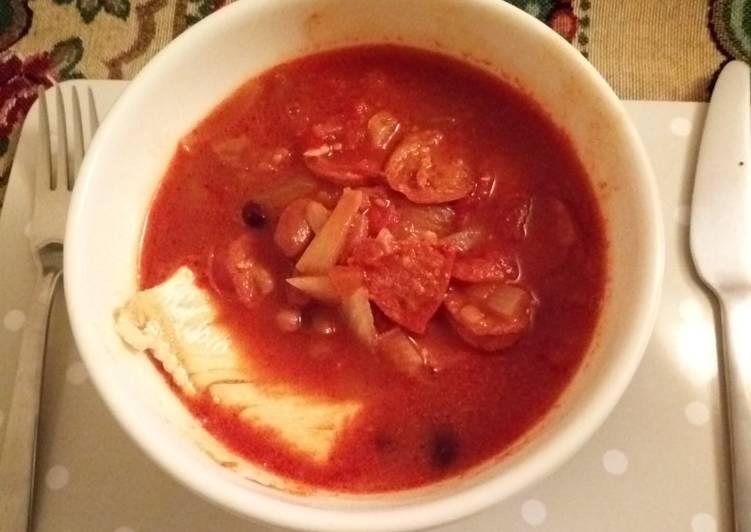 Delicious Chorizo and Cod Stew