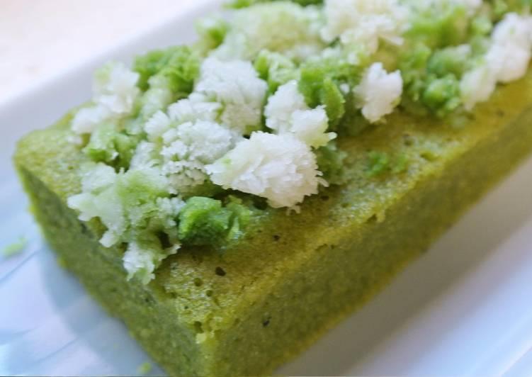 recette Un Gâteau en farine de riz et chocolat blanc et Matcha le délicieux