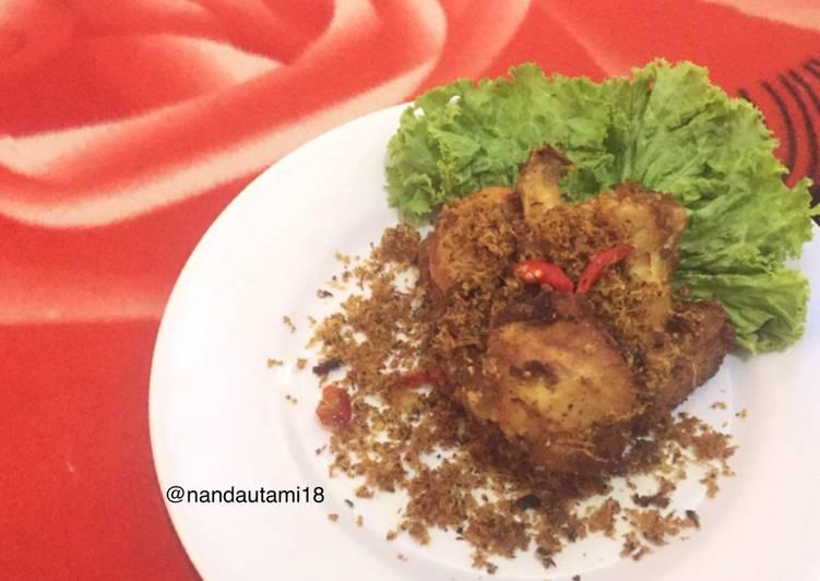 Ayam serundeng kelapa pedas manis - cookandrecipe.com