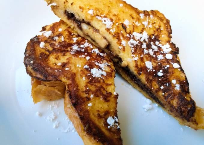 Nutella and banana French toast