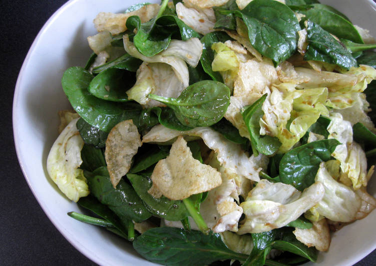 Easiest Way to Make Any-night-of-the-week Spinach, Lettuce & Potato Chips Salad