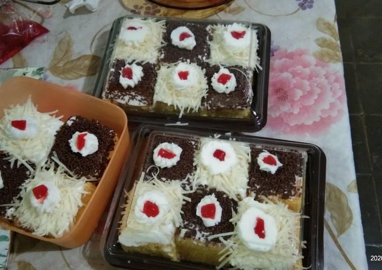 Cake Potong (base kue ultah vanila)
