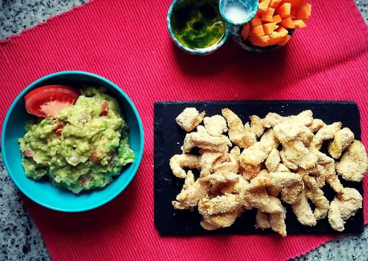 Nuggets di pollo con guacamole