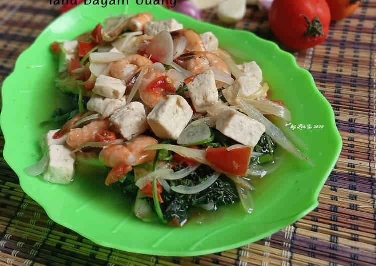 Asem Asem Tahu Bayam Udang (Eating Clean ala Anggi) - cookandrecipe.com