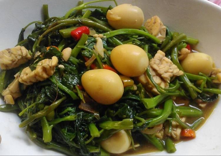 Resep Tumis Kangkung Telur Puyuh oleh dianlely - Cookpad