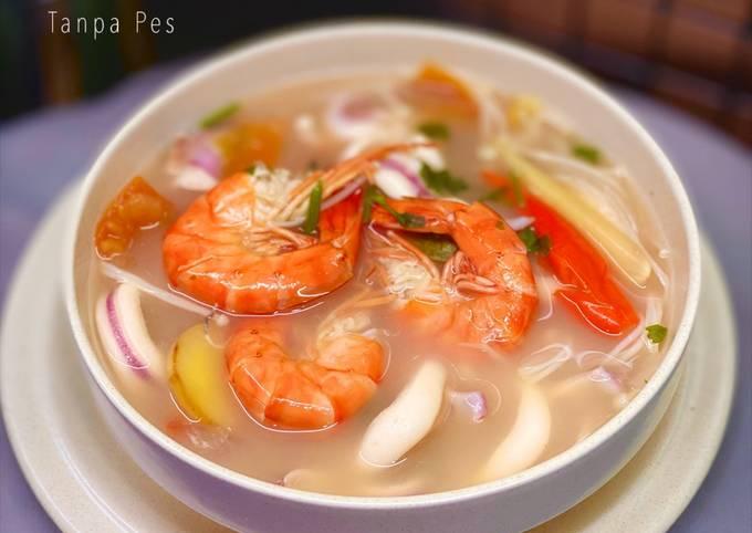 Tomyam Putih Seafood Tanpa Pes