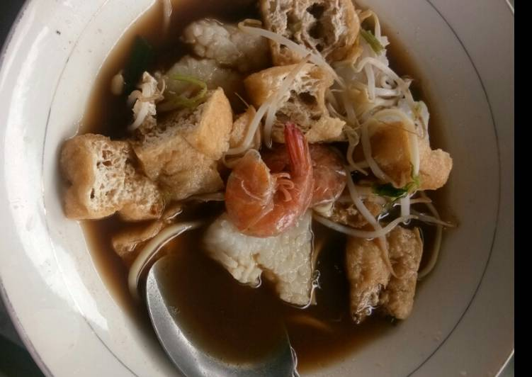 Resep Lontong mie simple Terenak